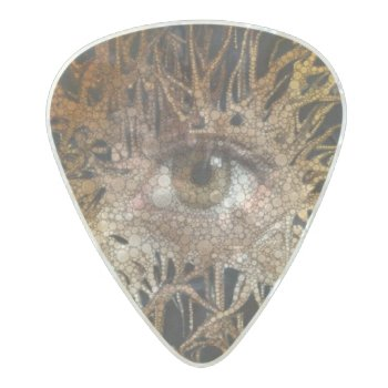Eye Abstract Art Pearl Celluloid Guitar Pick by TeensEyeCandy at Zazzle
