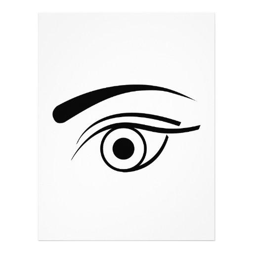 Eye and eyebrow letterhead