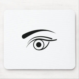 Eye and eyebrow mouse pad