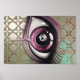 eye and skull painting poster print graffiti