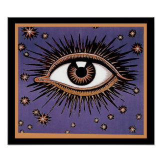 Eye and Stars Poster