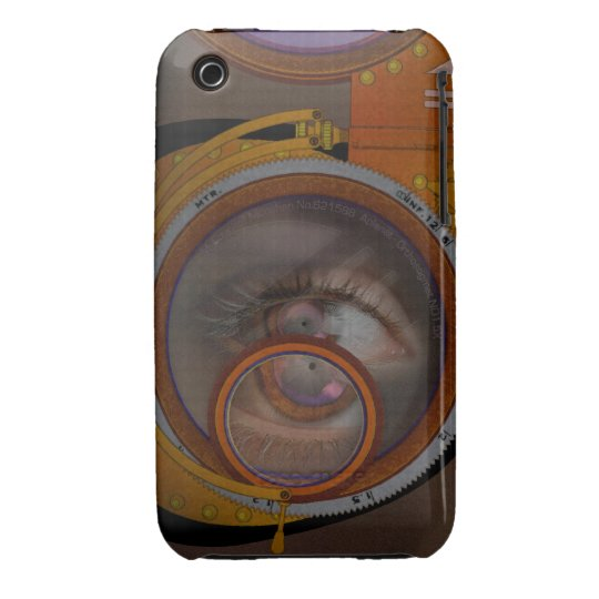 eye as a lens - steampunk variation iPhone 3 Case-Mate case