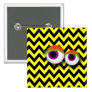 EYE badge: yellow 2 Inch Square Button