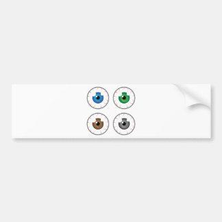 Eye ball blue green brown grey bumper sticker