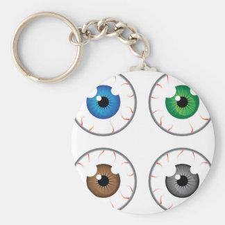Eye ball blue green brown grey keychain