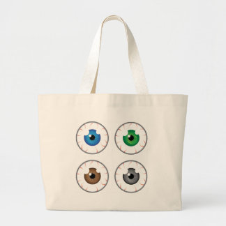 Eye ball blue green brown grey large tote bag