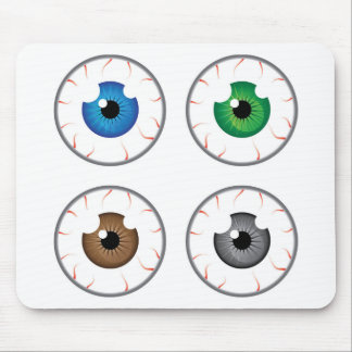 Eye ball blue green brown grey mouse pad