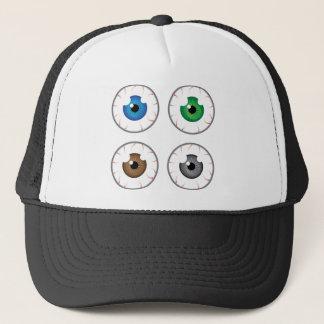 Eye ball blue green brown grey trucker hat