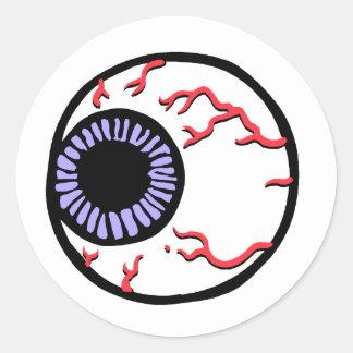 Eye Ball Classic Round Sticker