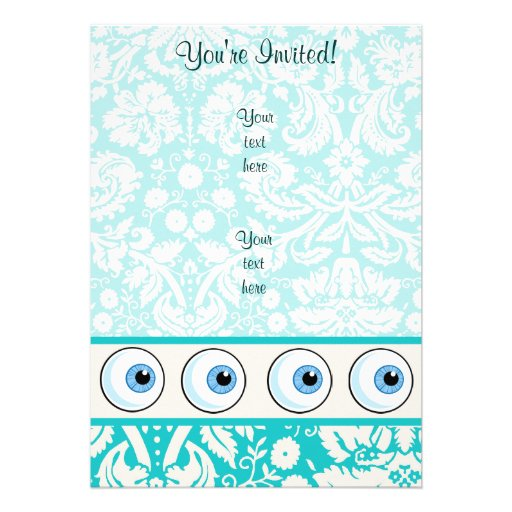 Eye Ball; Cute Personalized Announcements