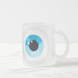 Eye ball frosted glass coffee mug