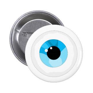 Eye ball pinback button
