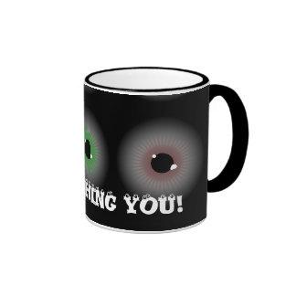Eye Balls, I'M WATCHING YOU! Ringer Mug