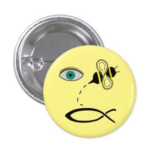 Eye Bee Christian 1 Inch Round Button
