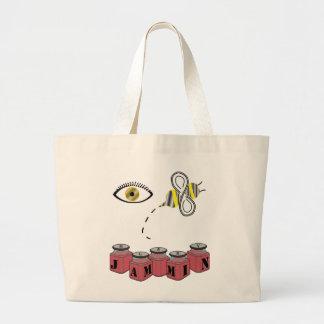 Eye Bee Jammin Jumbo Tote Bag