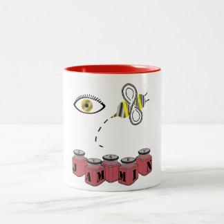 Eye Bee Jammin Two-Tone Coffee Mug