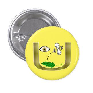 Eye Bee Leaf in U Button