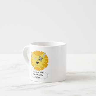 Eye Bee Lion Personalized Espresso Cup