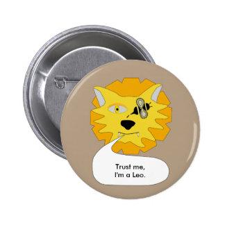 Eye Bee Lion Personalized Pinback Button