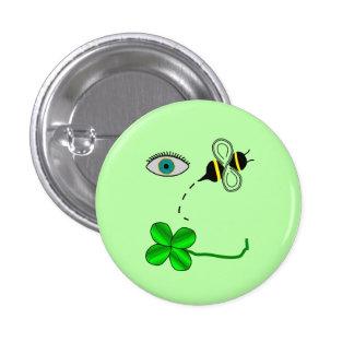 Eye Bee Lucky 1 Inch Round Button