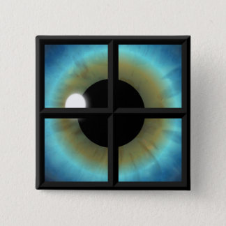 Eye Behind The Window To The Soul Square Buttons