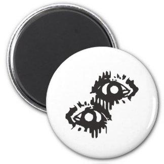 eye bleeding eye 2 inch round magnet