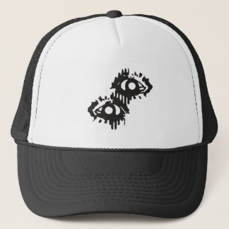 eye bleeding eye trucker hat