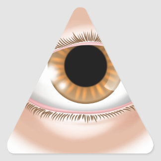 Eye body part illustration triangle stickers