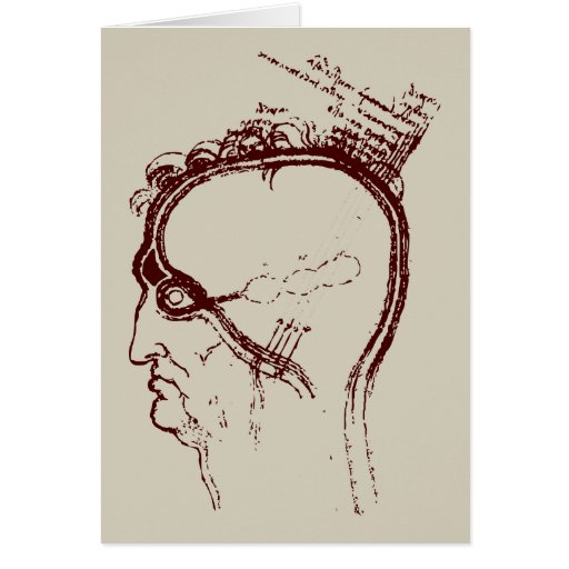 eye/brain study greeting card