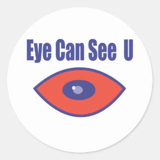 Eye Can See U. Classic Round Sticker
