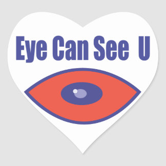 Eye Can See U. Heart Sticker