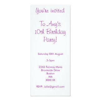 Eye Candy 10th Birthday Invite