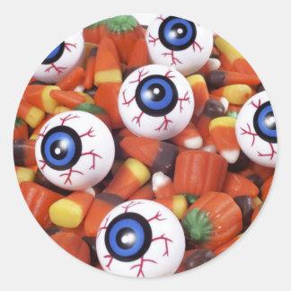 eye candy classic round sticker