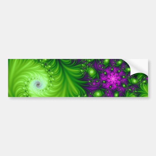 Eye Candy Cute Colorful Abstract Floral Art Bumper Sticker