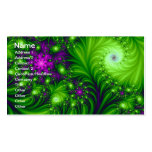 Eye Candy Cute Colorful Abstract Floral Art Double-Sided Standard Business Cards (Pack Of 100)