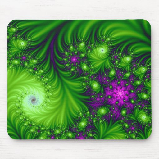 Eye Candy Cute Colorful Abstract Floral Art Mouse Pad