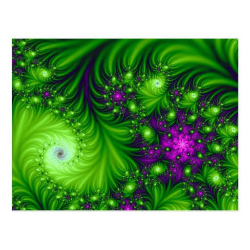 Eye Candy Cute Colorful Abstract Floral Art Postcards