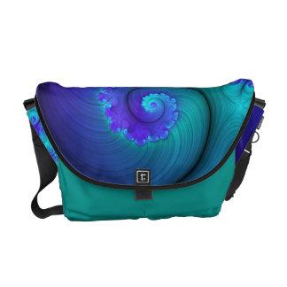 Eye Candy Fractals - Frilled Nautilus 1 Messenger Bag