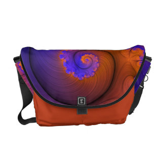 Eye Candy Fractals - Frilled Nautilus 2 Messenger Bag