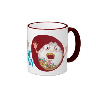 'eye candy'  humorous parody coffee cup