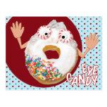 'eye candy'  humorous parody postcard
