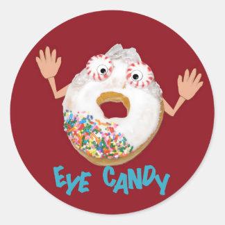 'eye candy'  humorous parody sticker