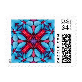 Eye Candy Kaleidoscope  Postage Stamps 3 sizes