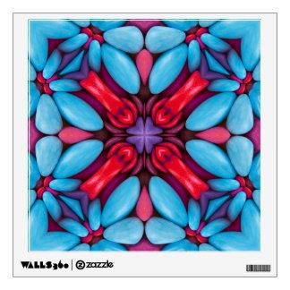 Eye Candy Kaleidoscope  Wall Decal. 4 shapes Wall Sticker