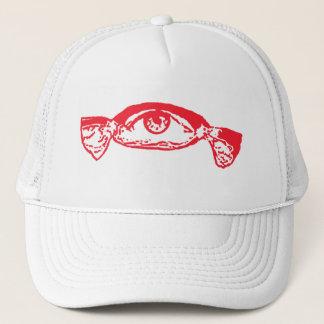 eye candy red trucker hat