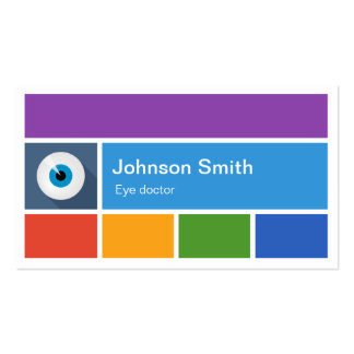Eye Care Eye doctor - Creative Modern Metro Style Double-Sided Standard Business Cards (Pack Of 100)