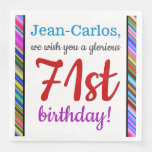 [ Thumbnail: Eye-Catching 71st Birthday Paper Napkins ]