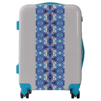 Eye-Catching Blue Diamonds - Designer Luggage