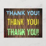 "[ Thumbnail: Eye-Catching & Bold ""Thank You!"" Postcard ]"
