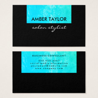 Eye Catching Colorful Grunge Business Card